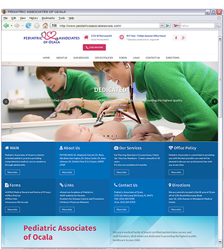 A family-oriented pediatric practice providing comprehensive medical care to newborns through adolescents.
