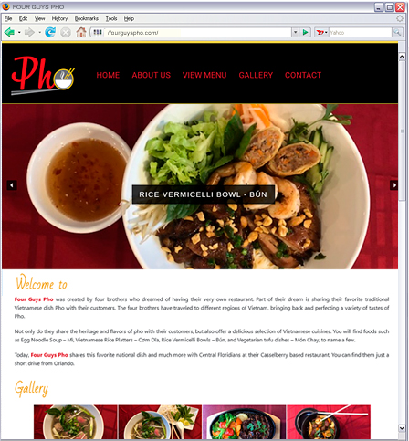 Shares the Vietnamese national dish Pho and more at their Central Florida Casselberry Vietnamese restaurant, just a short drive from Orlando.